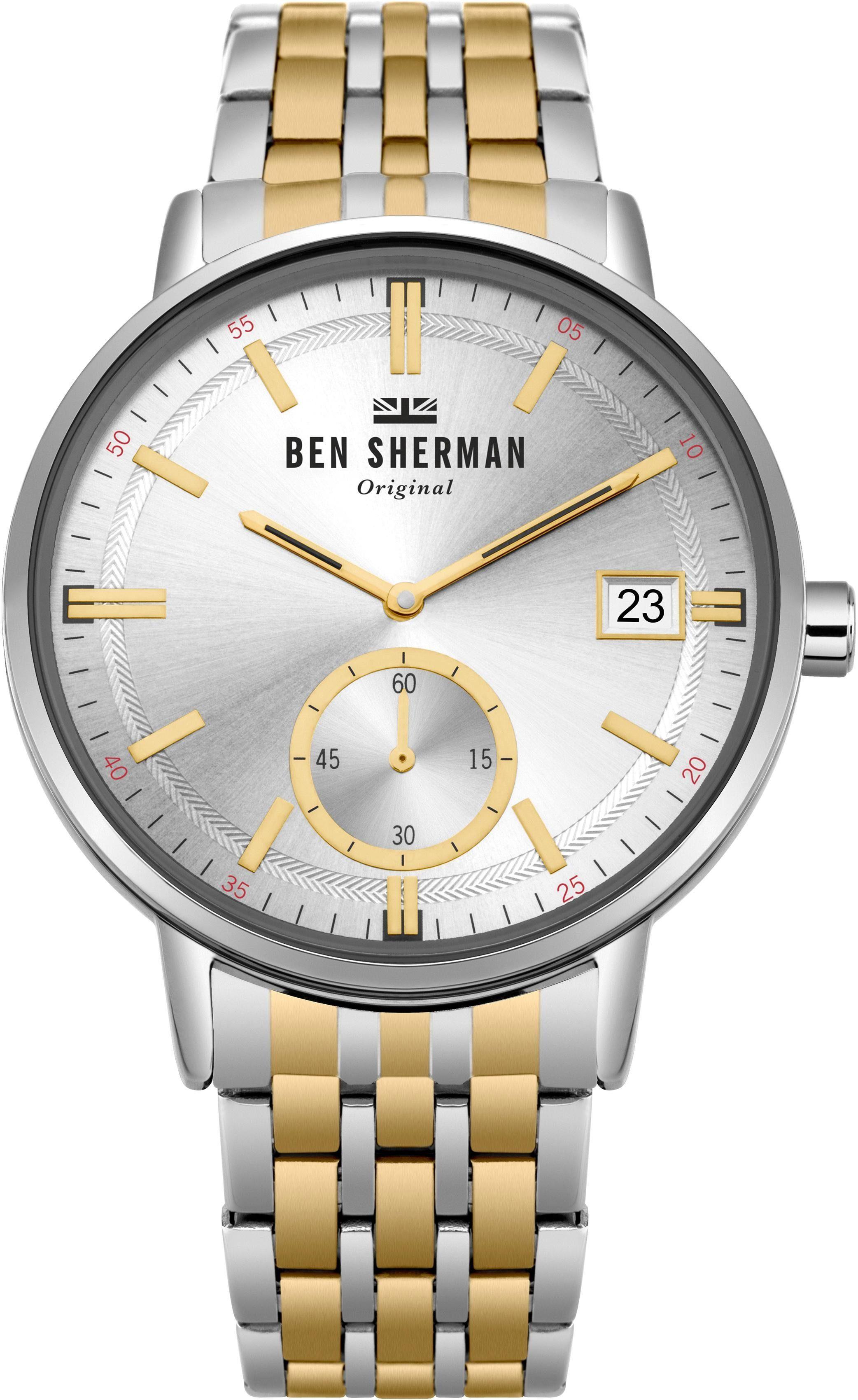 Ben Sherman Quarzuhr »Portobello Professional Day-Date, WB071GSM« mit kleiner Sekunde