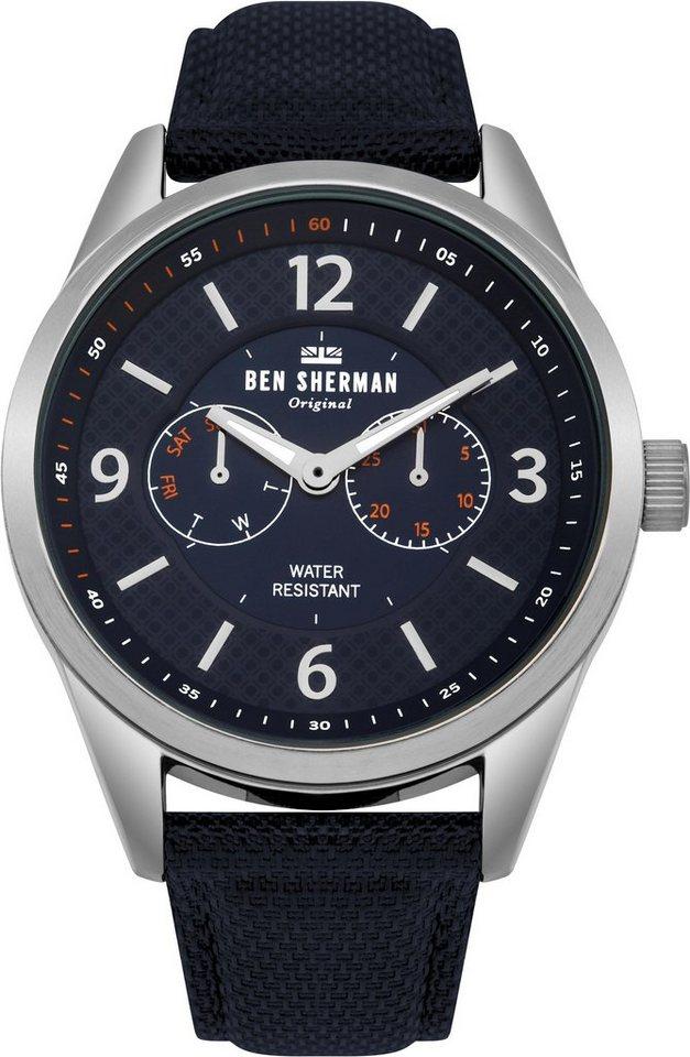 Ben Sherman Multifunktionsuhr »Big Carnaby Utility, WB069UU«   Uhren > Multifunktionsuhren   Blau   Ben Sherman