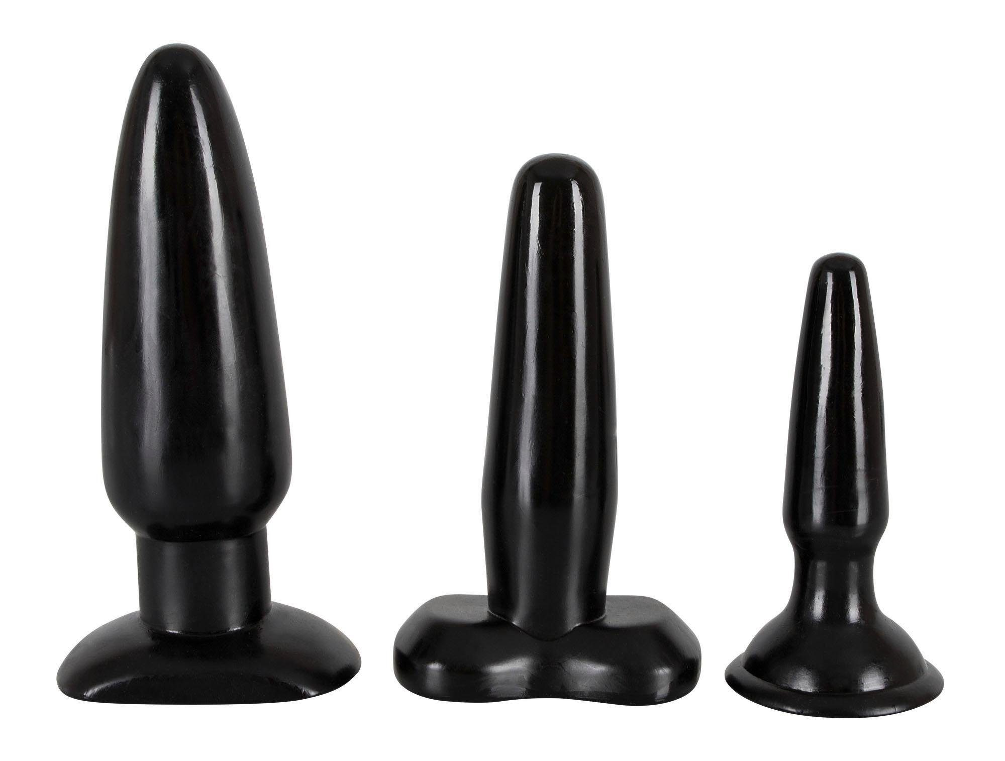NMC Analplug Set »Liquorice Dip« Buttplugs, 3er Set Analplugs