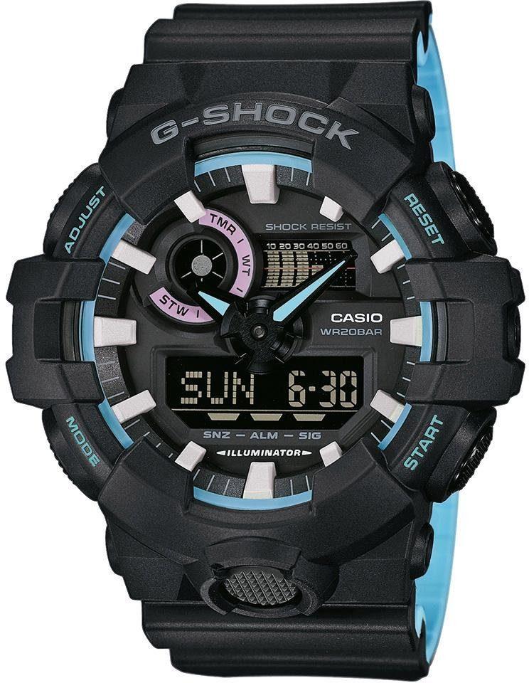 G-Shock Chronograph »GA-700PC-1AER« mit abschaltbaren Tastentönen