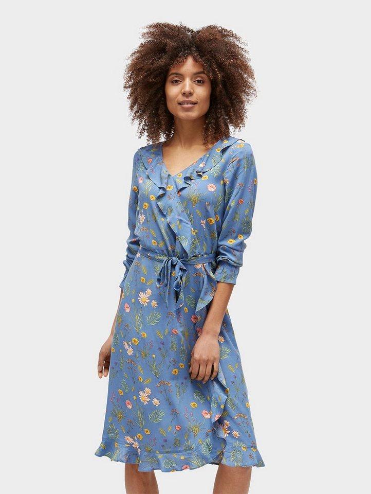 TOM TAILOR Blusenkleid »Rüschen-Kleid mit floralem Muster ...