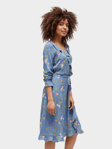 Tom Tailor Blusenkleid Rüschenkleid mit floralem Muster