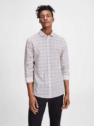Jack & Jones Lässiges Slim Fit Langarmhemd