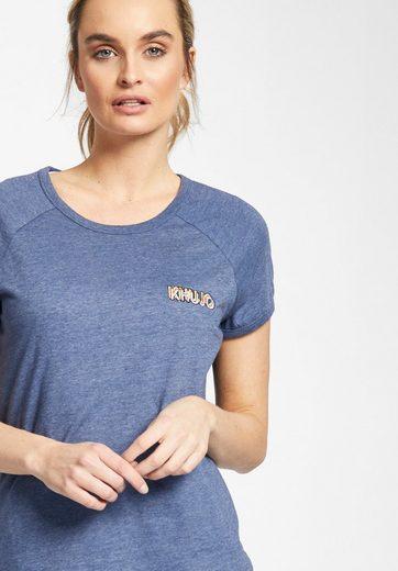khujo T-Shirt JAMUNA EMBRO, mit Reglanärmeln