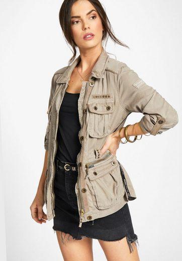 Khujo Field Jacket Akmeni, Sleeves With Turn-up