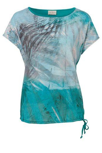 VIA APPIA Verspieltes Shirt mit Dschungelmotiv