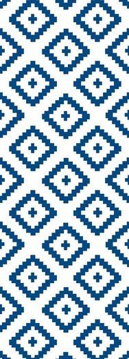 QUEENCE Vinyltapete »Olm - blau«, 90 x 250 cm, selbstklebend