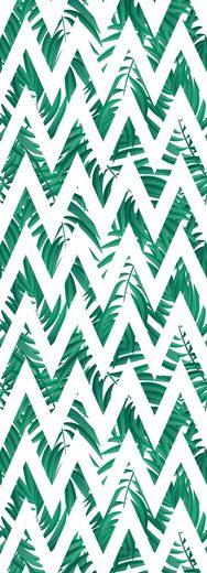 QUEENCE Vinyltapete »Muster-Grün«, 90 x 250 cm, selbstklebend