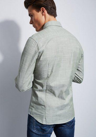 Otto Kern Hemd in Melange-Optik - Slim Fit