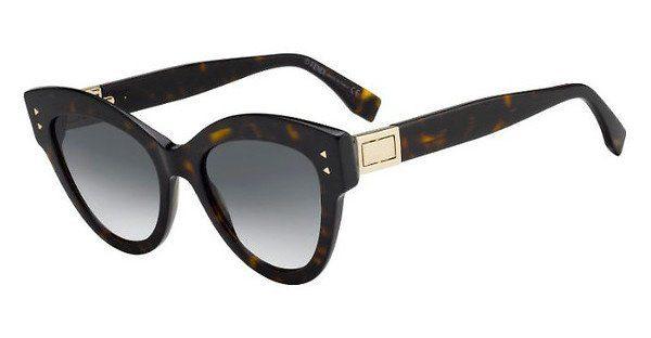 FENDI Fendi Damen Sonnenbrille » FF 0266/S«, rot, C9A/U1 - rot/rosa