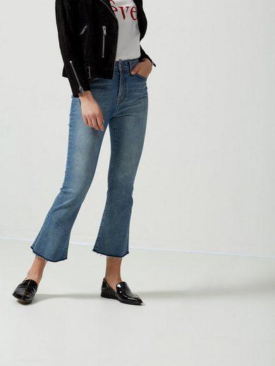 Selected Femme Kurz geschnittene Bootcut-Jeans