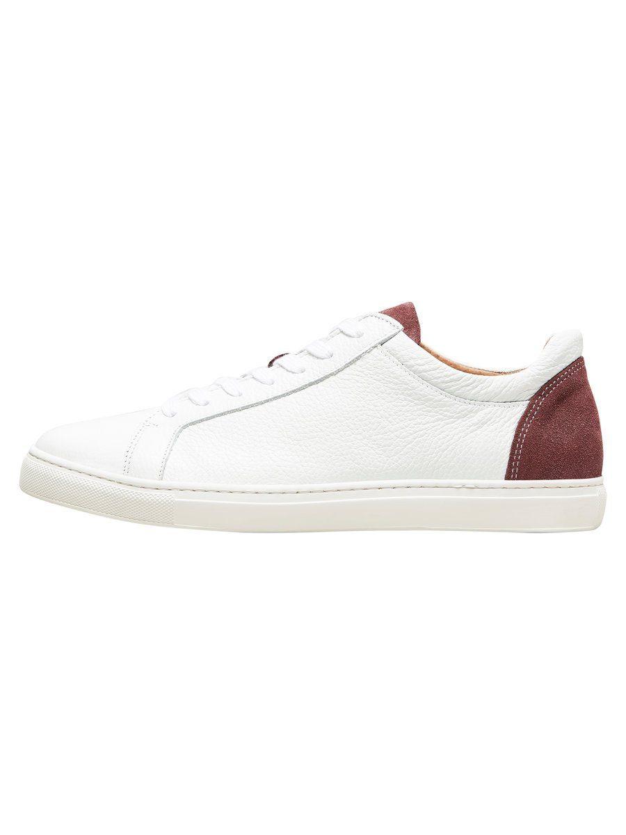 Selected Homme Leder Sneaker online kaufen  White