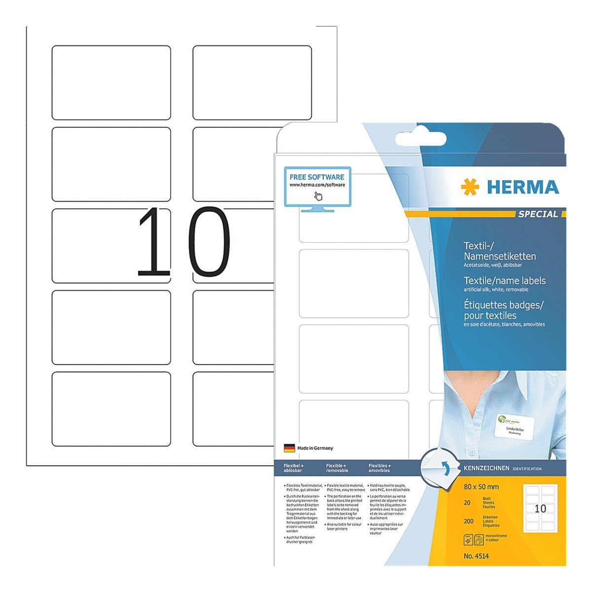 HERMA 200er-Pack Namens-/Textiletiketten »4514«