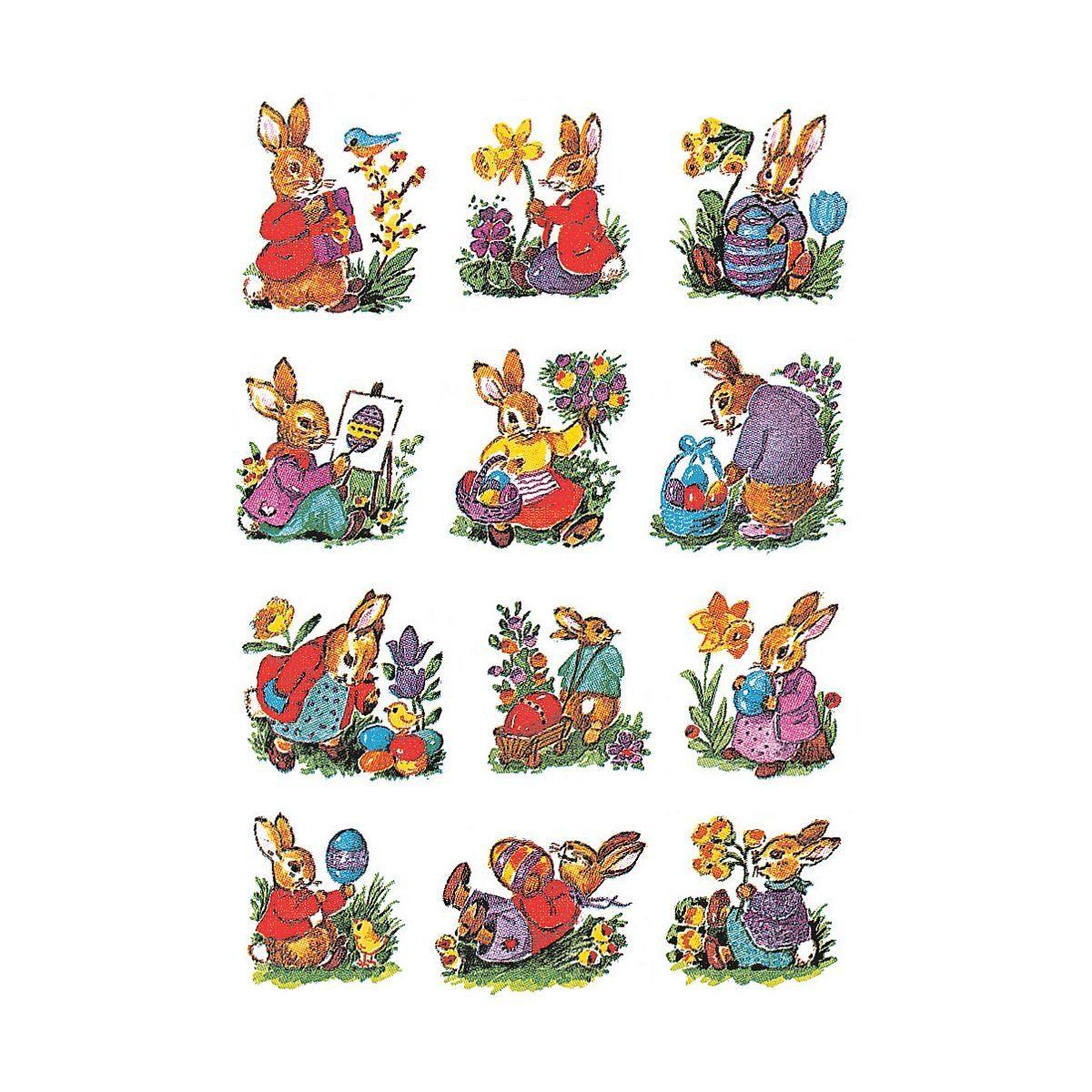 HERMA Oster-Sticker »Hasen nostalgisch«