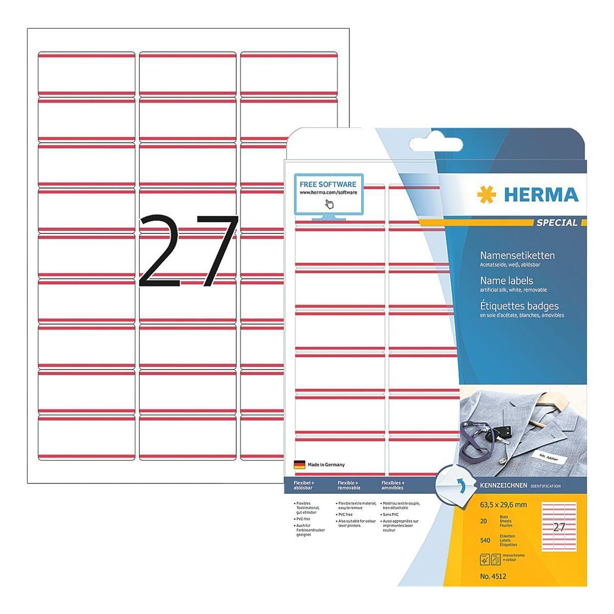 HERMA 540er-Pack Namens-/Textiletiketten »4512«