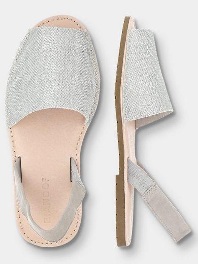 Bianco Stoff- Sandalen