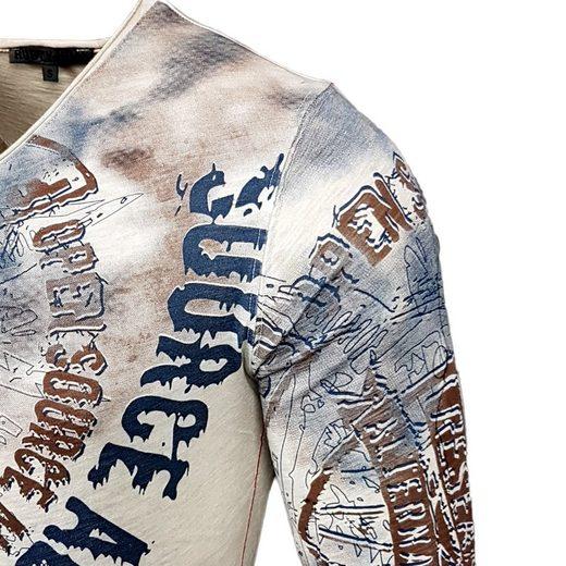 Rusty Neal Langarmshirt mit coolem Frontdruck