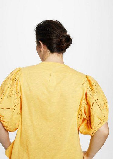 VIOLETA by Mango Openwork details T-shirt