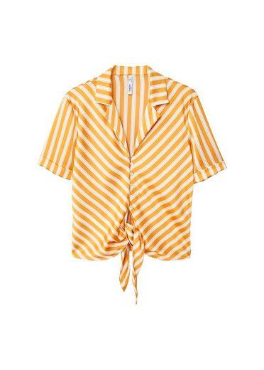 MANGO Fließende Bluse mit Knoten