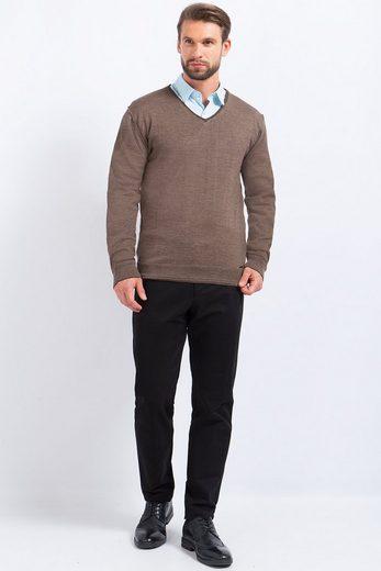 Finn Flare Pullover mit klassischem V-Ausschnitt