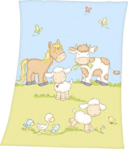 Babydecke »Bauernhoftiere«, Baby Best, mit tollen Tier-Motiven
