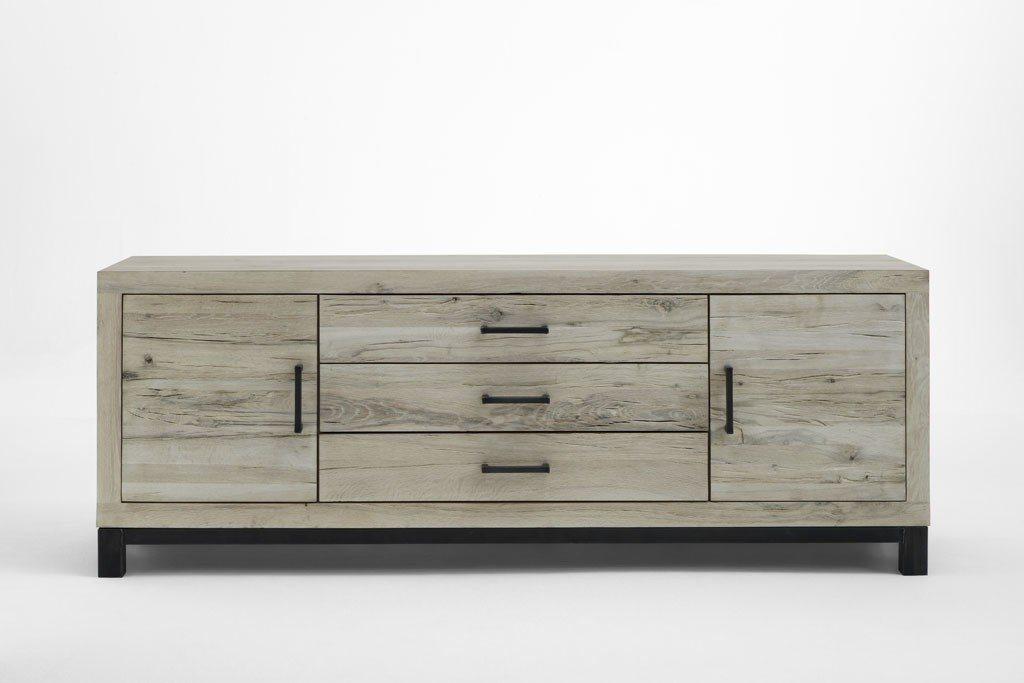 Kasper-Wohndesign  Sideboard Massivholz Eiche sand NELA braun | 04250385970818