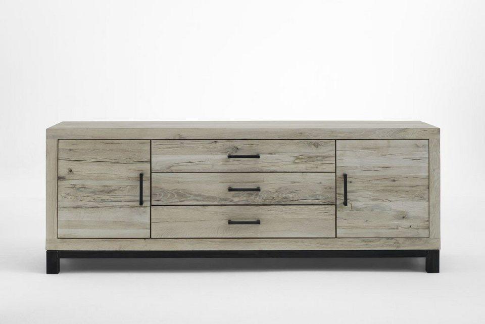 Kasper Wohndesign Sideboard Massivholz Eiche Sand Nela Online