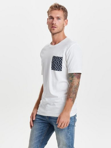 ONLY & SONS Detailreicher T-Shirt