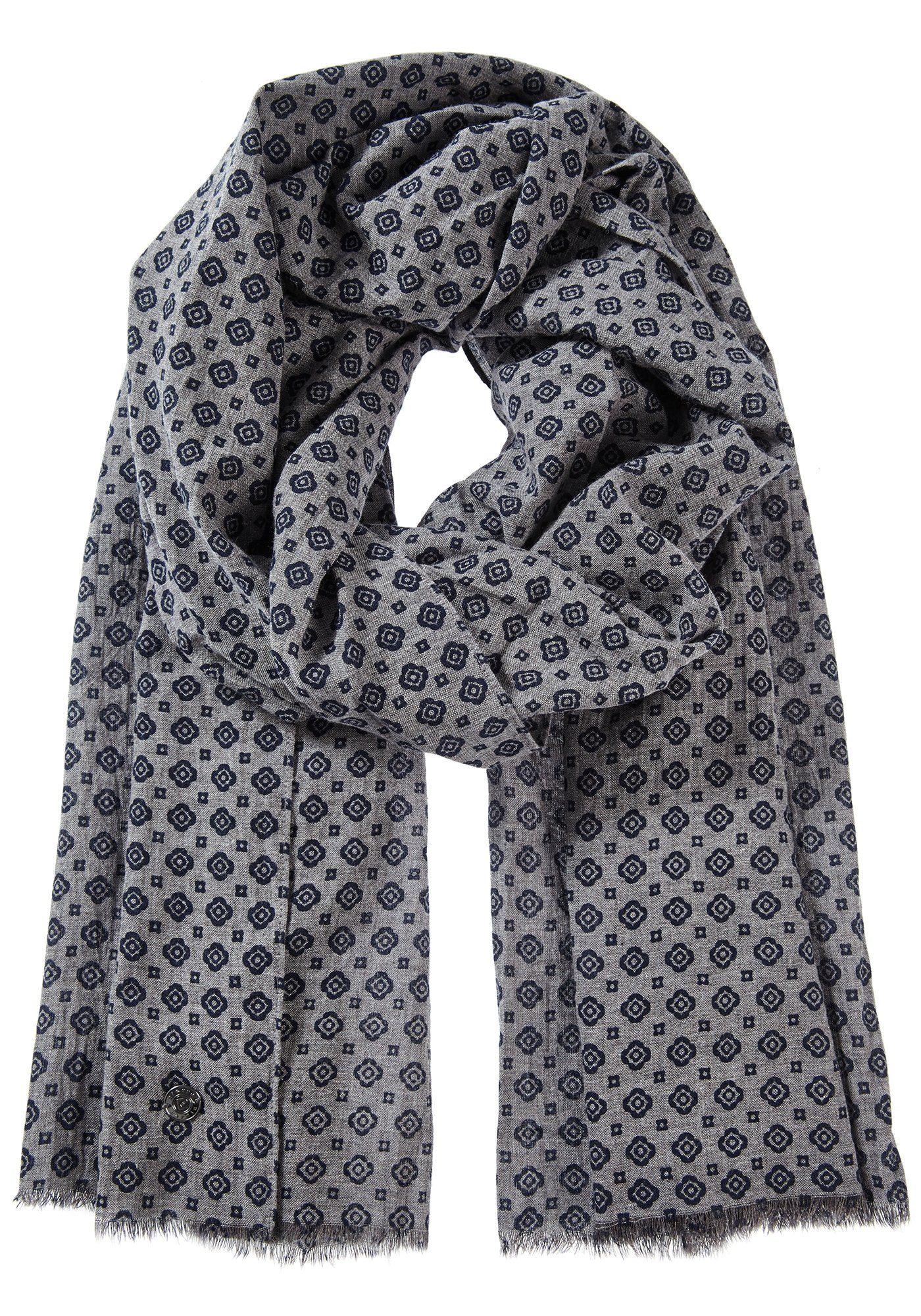 PIERRE CARDIN Gemusterter Schal aus reiner Baumwolle