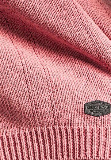 khujo Strickpullover PINTAZ, aus Baumwolle