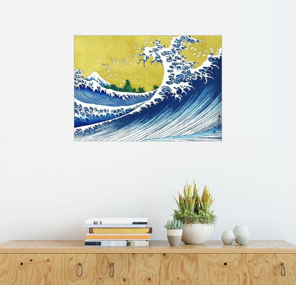 Posterlounge Wandbild Katsushika Hokusai Die Große Welle Vor