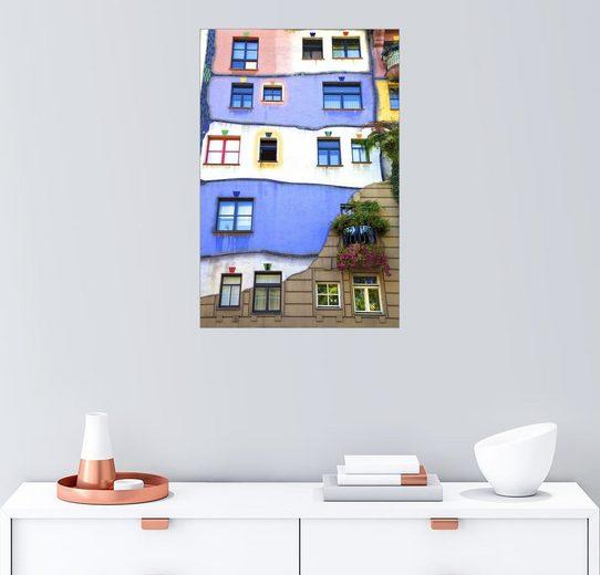 Posterlounge Wandbild - Neil Farrin »Hundertwasser-Haus«