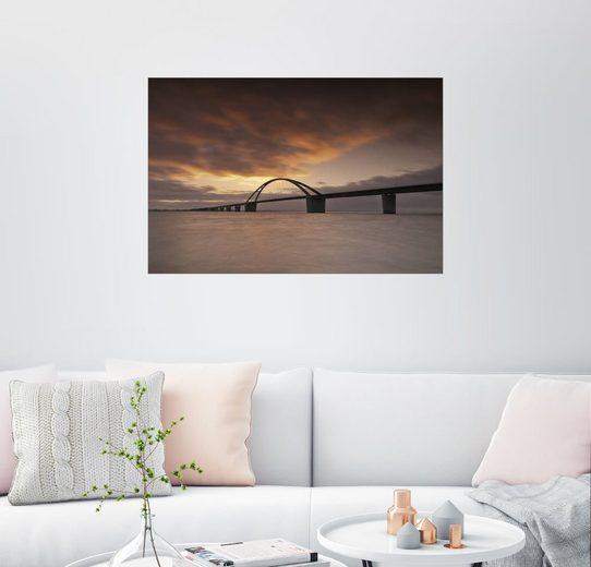 Posterlounge Wandbild - PhotoArt Hartmann »Fehmarnsundbrücke III«