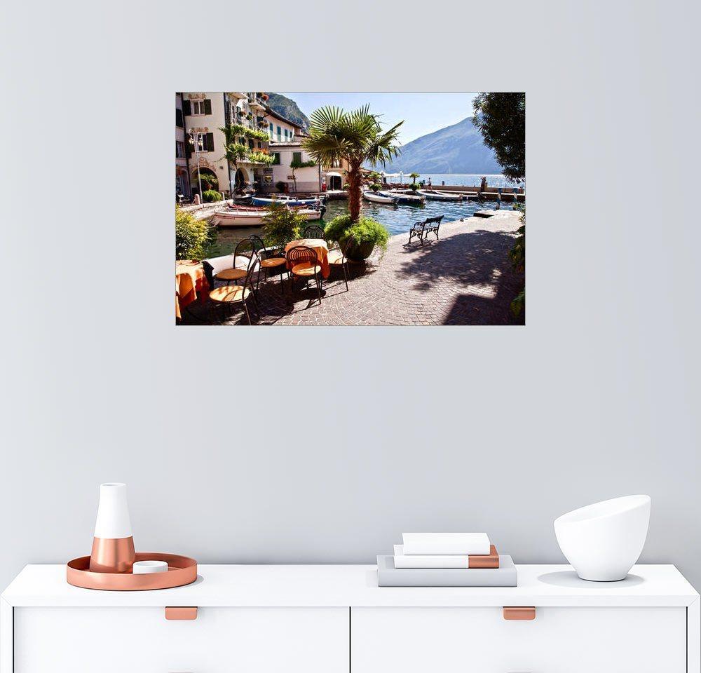 Posterlounge Wandbild »Kleines Café in Limone am Gardasee«
