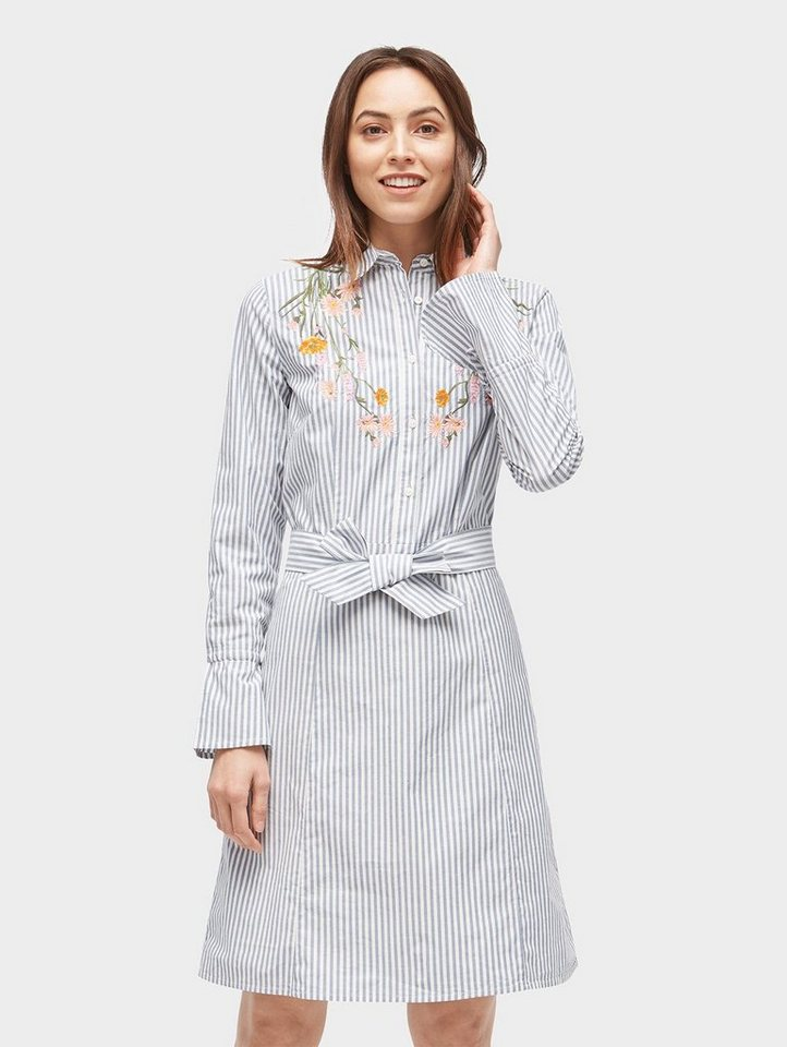 tom tailor blusenkleid »gestreiftes kleid mit floraler