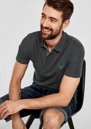 s.Oliver RED LABEL Poloshirt aus Baumwoll-Piqué