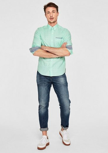 s.Oliver RED LABEL Slim: Hemd mit Strukturmuster