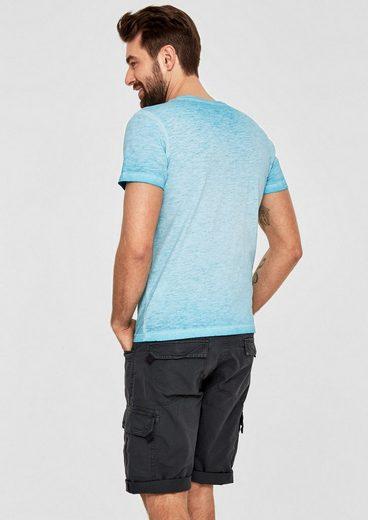 T-shirt Étiquette Rouge S.oliver En Fil De Melange-flamme