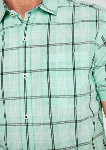 s.Oliver RED LABEL Regular: Kariertes Kurzarmhemd