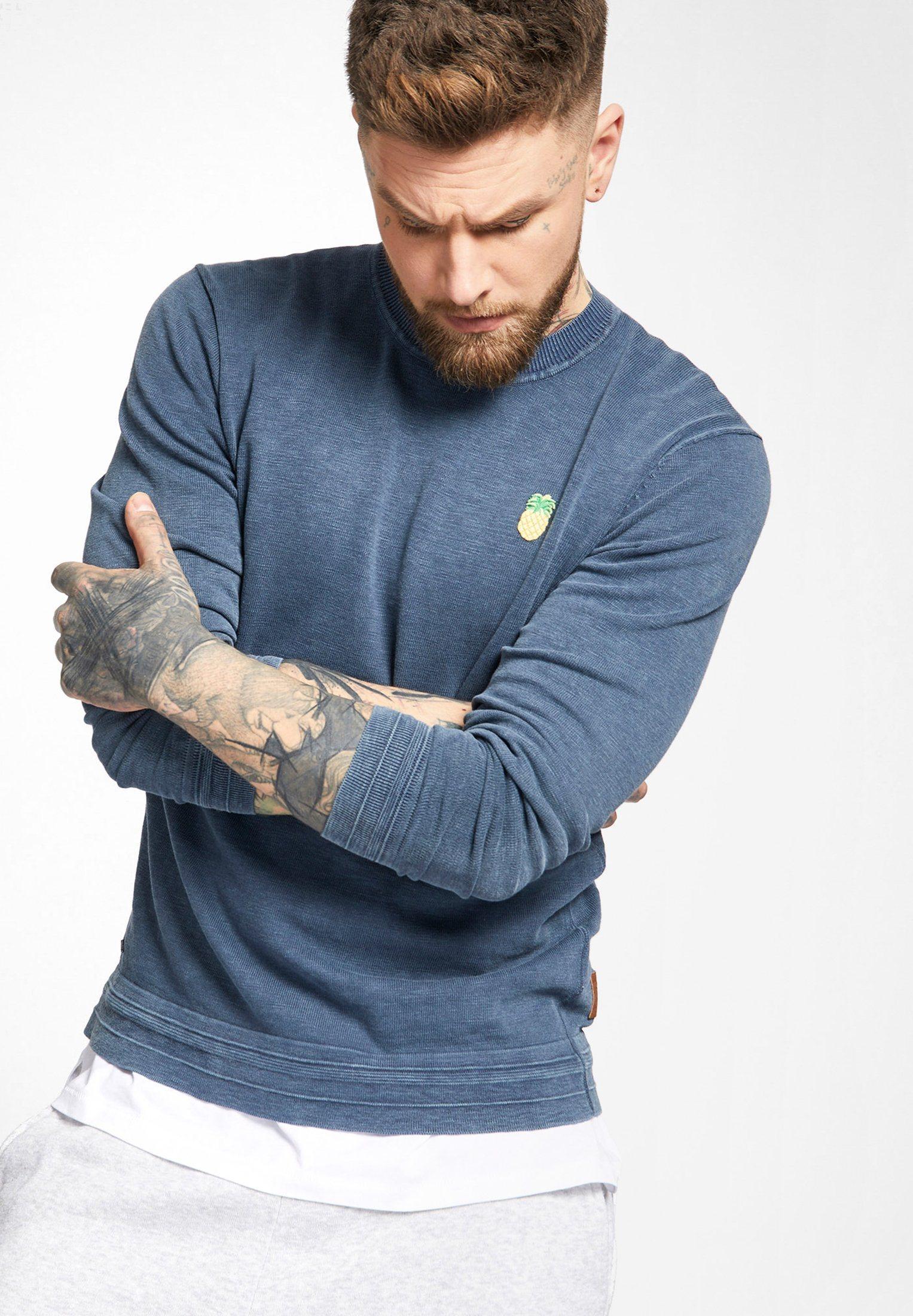khujo Strickpullover »NELKO« aus reiner Baumwolle | Bekleidung > Pullover > Sonstige Pullover | Blau | khujo