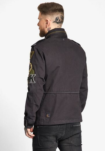 khujo Fieldjacket CLARENCE, mit variablen Klett-Patches
