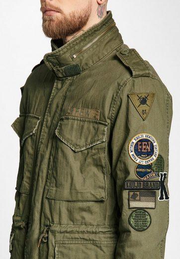 khujo Fieldjacket CLARENCE, mit variablen Klett-Patches
