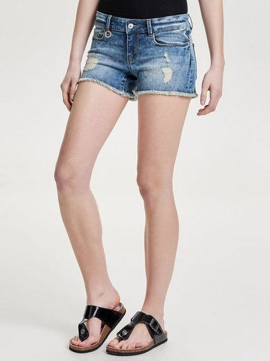 Only Coral Superlow Destroyed Jeansshorts