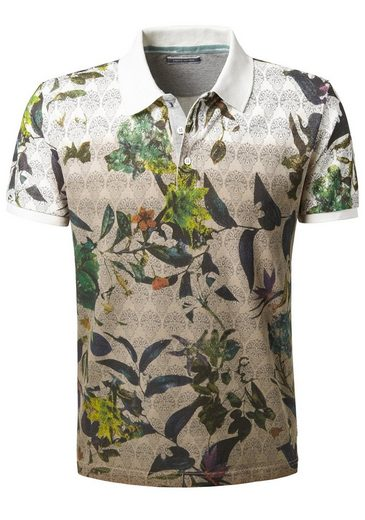 Pierre Cardin Poloshirt Mit Flower Print, Dip-dyed - Regular Fit