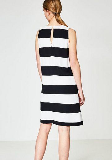 HALLHUBER A-Linien Kleid mit Blockstreifen