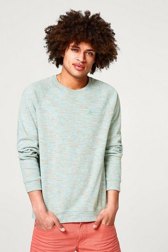 Cotton Edc By Esprit Space Dyed-sweatshirt Pure