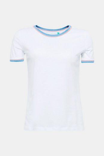 Esprit Sporty Cotton T-shirt With Knit Cuffs