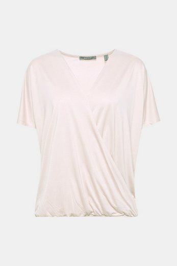 Esprit Collection Softes Bat-shirt With Wrap Effect