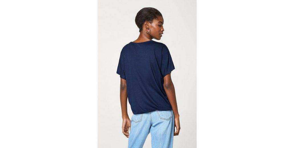 ESPRIT COLLECTION Softes Fledermaus-Shirt mit Wickeleffekt #NAME? NWszds9GC