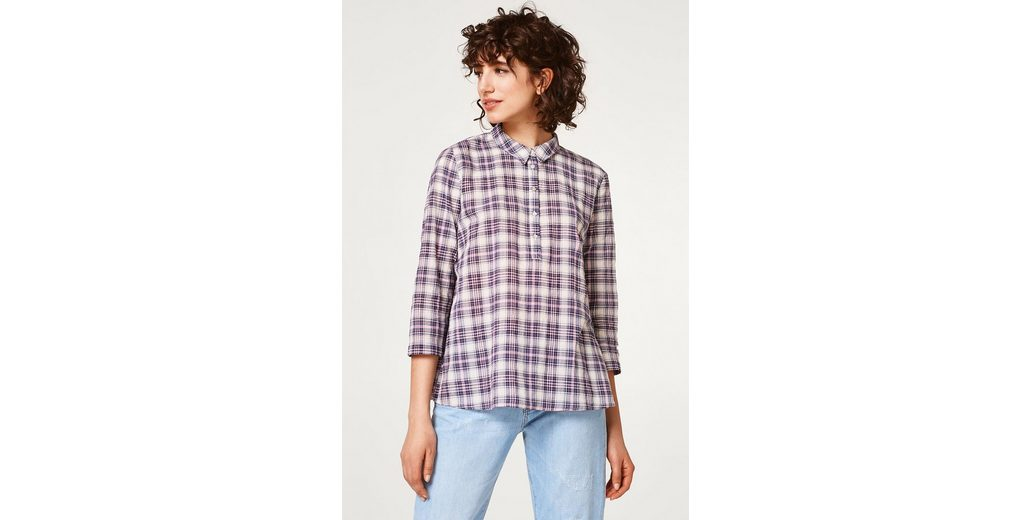 ESPRIT Luftige Karo-Bluse mit rückseitigen Fältchen Neue Preiswerte Online sKR5E8D6Jy